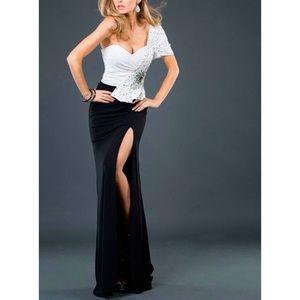 Jovani Gown Black/White